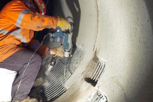 Concrete repair of inside culvert