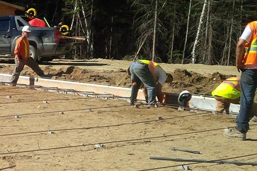 Concrete foundation set up