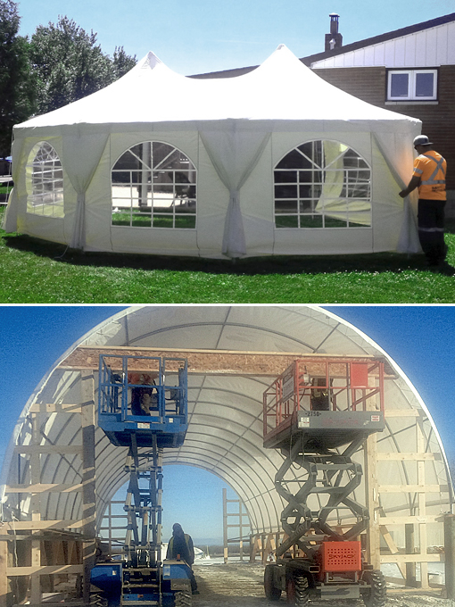 Event tents and portable buildings